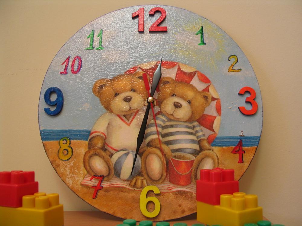 Декупаж часы для ребенка