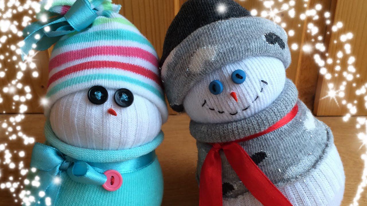 Фото новогодних игрушек своими руками снеговик