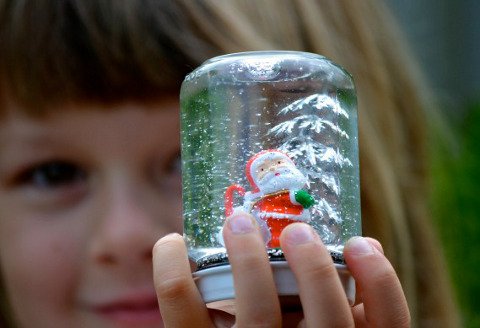 Снежный шар своими руками фото